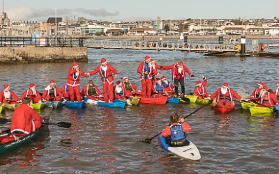 Putting the FUN into Fundraising with the Santa Kayak 2017!