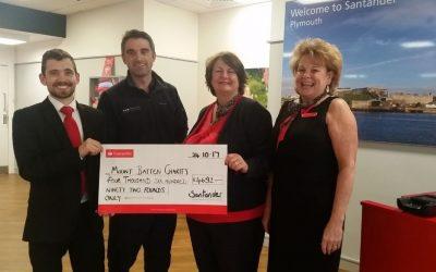 Santander Foundation cheque donation