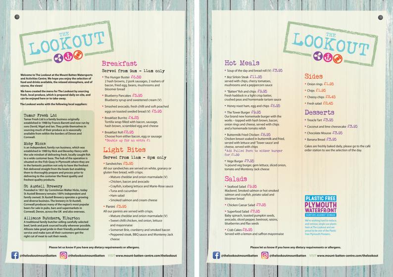 The Lookout menu