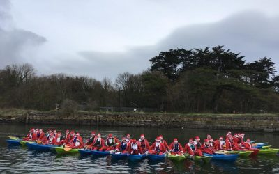 Putting the FUN into Fundraising with The Great Santa Kayak 2018!