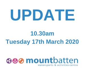 Update 10.30am Tuesday 17th March 2020