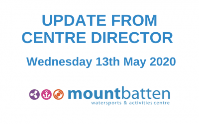 Centre Director Update Wednesday 13th May 2020