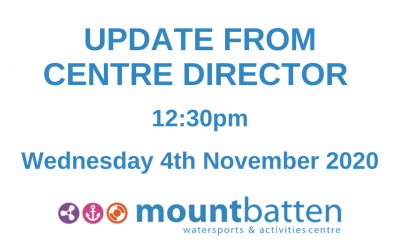 Centre Director update: Wednesday 4th November 12:30pm