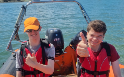 Thumbs up from Woodlands School for our 'adopted' team Spain at SailGP